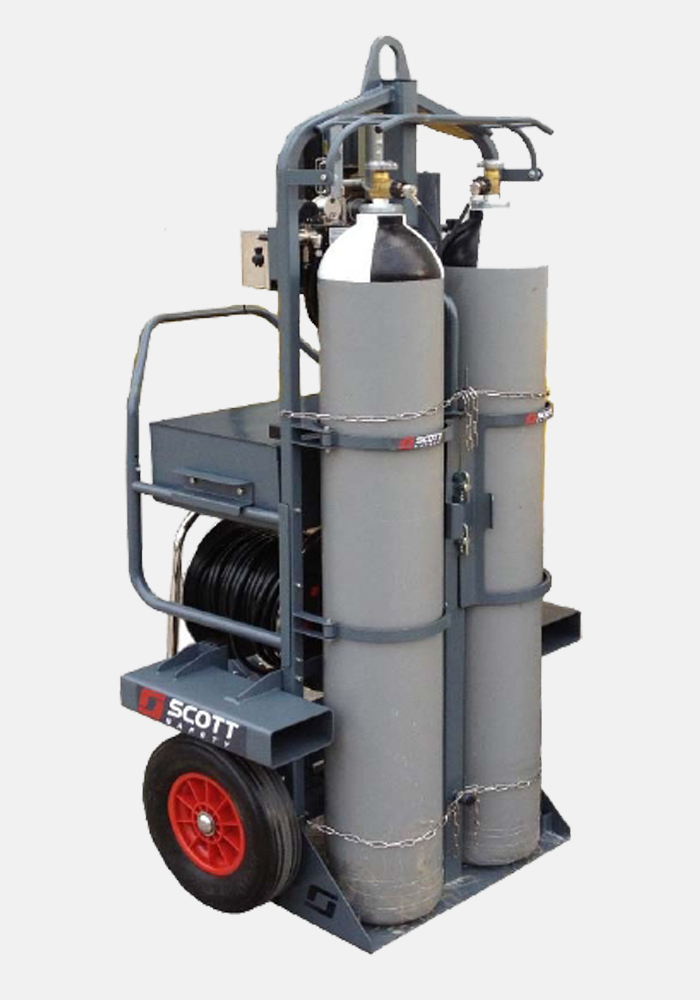 3M Scott ModulairMax Large Capacity Airline Trolley System